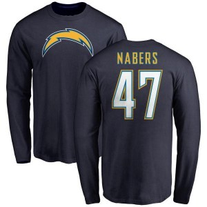Gabe Nabers Los Angeles Chargers Youth Navy by Name & Number T-Shirt - -