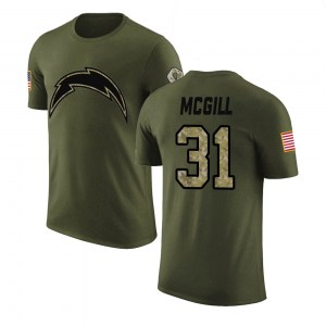 Kevin McGill Los Angeles Chargers Youth Legend Olive Salute to Service T-Shirt