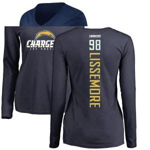 Sean Lissemore Los Angeles Chargers Women's Navy Branded Backer Long Sleeve T-Shirt -