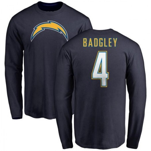 Mike Badgley Los Angeles Chargers Men's Navy by Name & Number T-Shirt - -