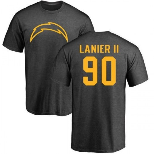 Anthony Lanier II Los Angeles Chargers Men's by One Color T-Shirt - Ash
