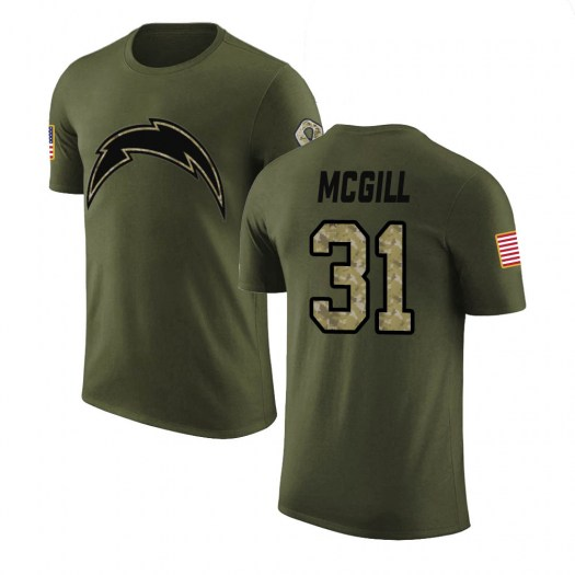 Kevin McGill Los Angeles Chargers Men's Legend Olive Salute to Service T-Shirt