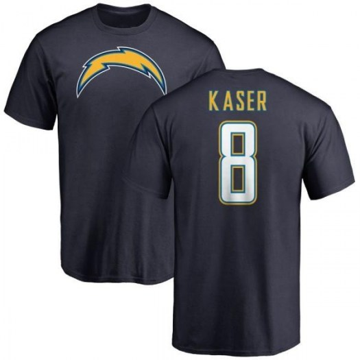 Drew Kaser Los Angeles Chargers Men's Navy Pro Line by Branded Name & Number T-Shirt -