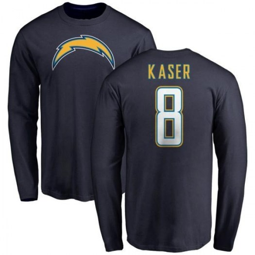 Drew Kaser Los Angeles Chargers Youth Navy Pro Line by Branded Name & Number T-Shirt - -