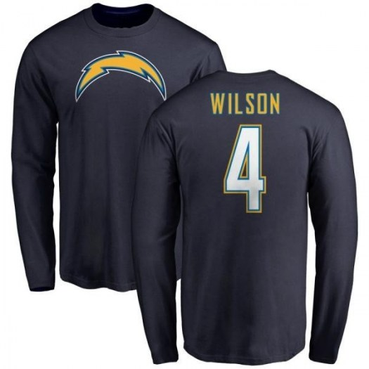 Dontre Wilson Los Angeles Chargers Men's Navy Pro Line by Branded Name & Number T-Shirt - -